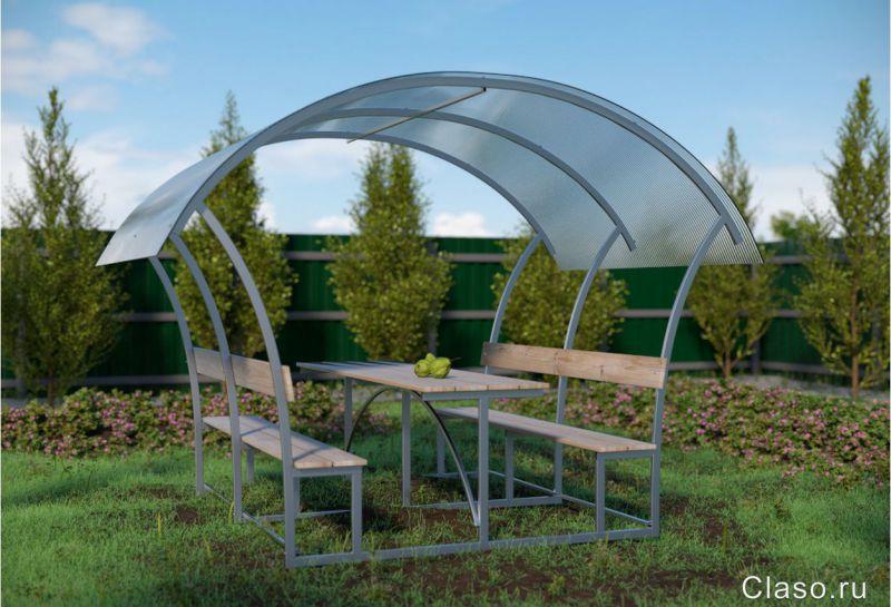 Садовые беседки из поликарбоната фото