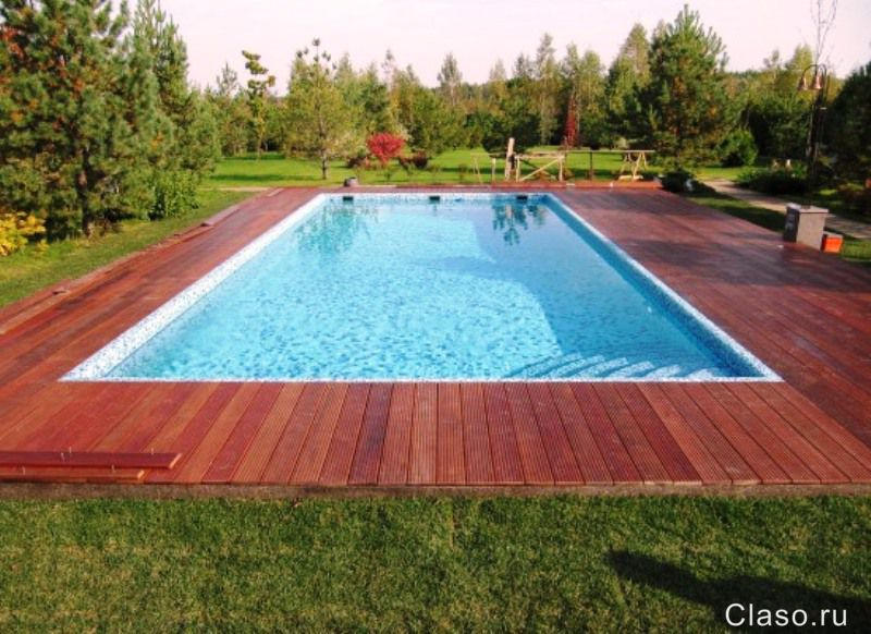Дизайн уличных бассейнов