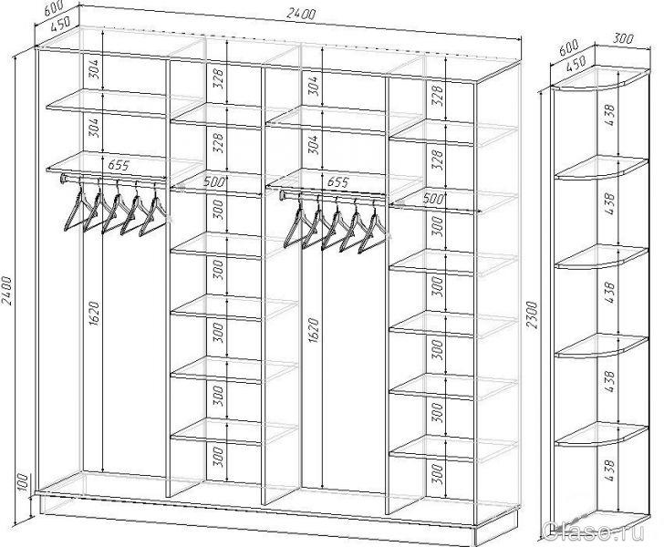 Схемы шкафов чертежи шкафовкупе Проекты Pro100  Видео